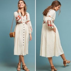 Maeve Gracie Embroidered Peasant Dress